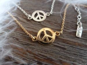 COLLIER CHAINE FINE PEACE & LOVE